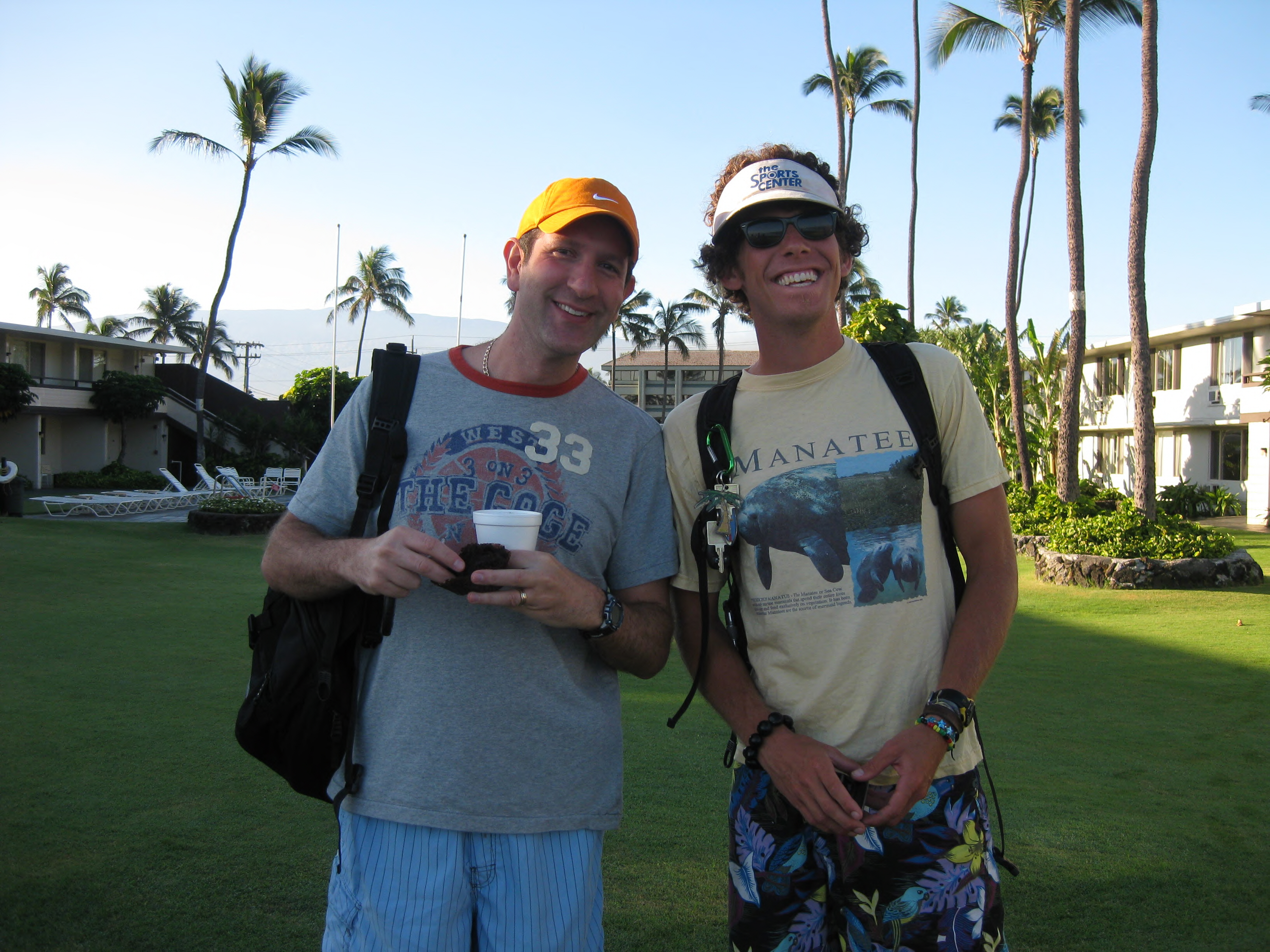 Mitch and Program Director Danny in Hawaii
