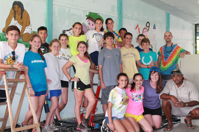 Costa Rica Community Service at their Service Project