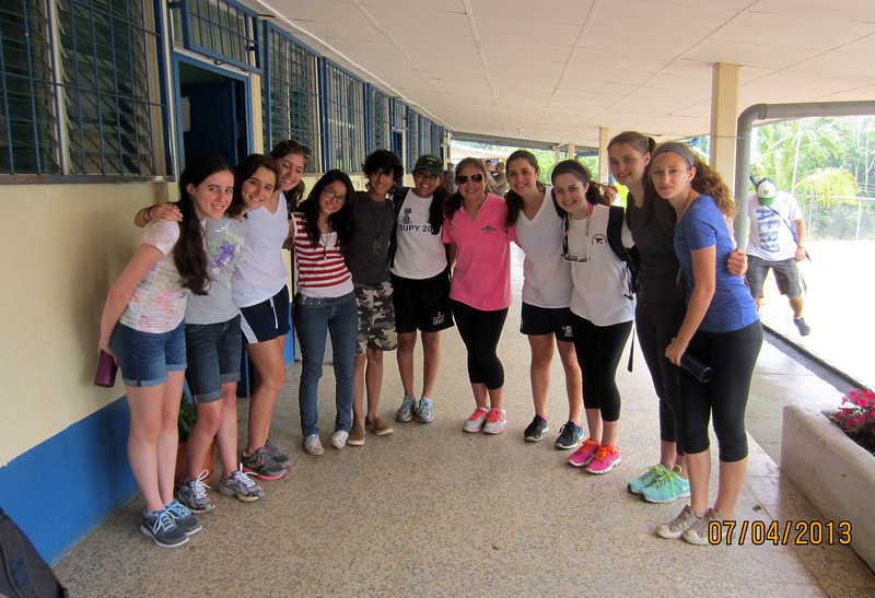 Group shot-Community Service Teen Tour