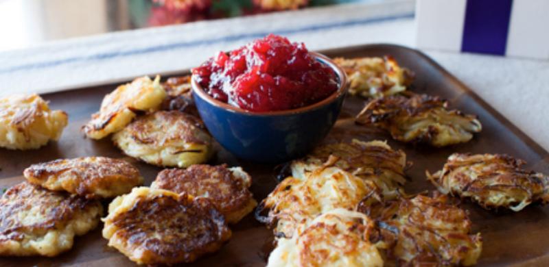 Cranberry-potato-pancakes