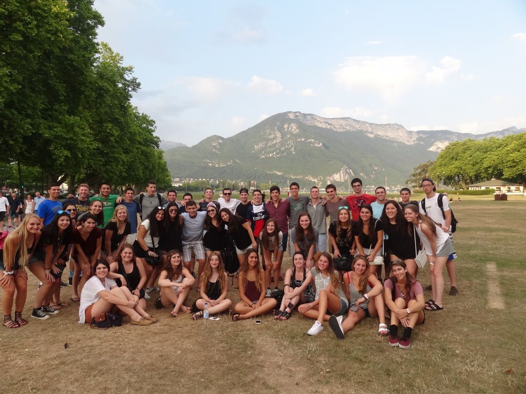 Group shot in Annecy