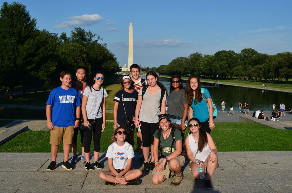 The group at the Washington Monument