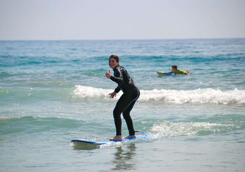 Adventurer Catching Waves