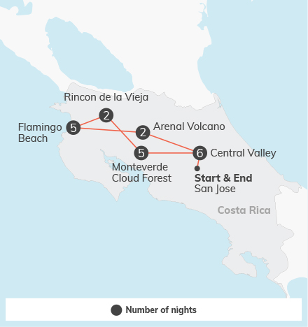 Costa Rica Language & Service Combination - 21 days 2