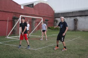 Costa Rica Combo playing soccer