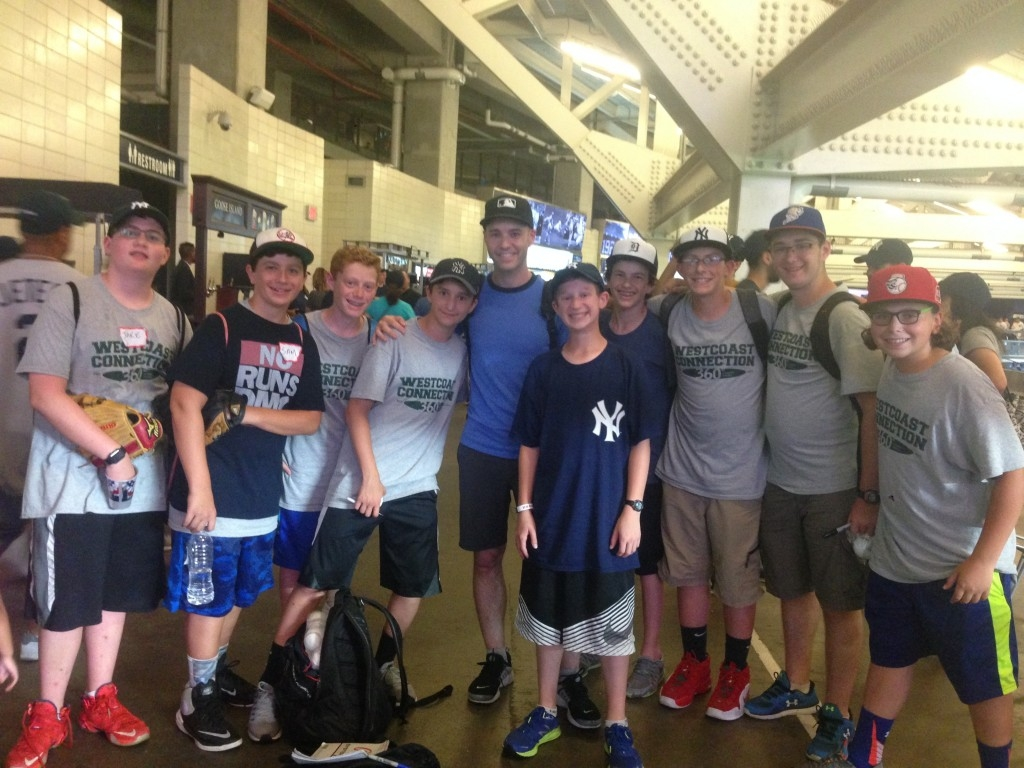 Some of our boys with baseball celebrity Zack Hample