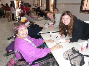 Peru Community Service at the Elderly Home