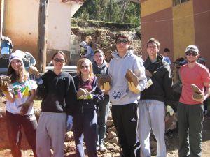Peru Community Service at the Slides