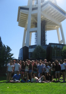 Getting Ready to Climb the Space Needle