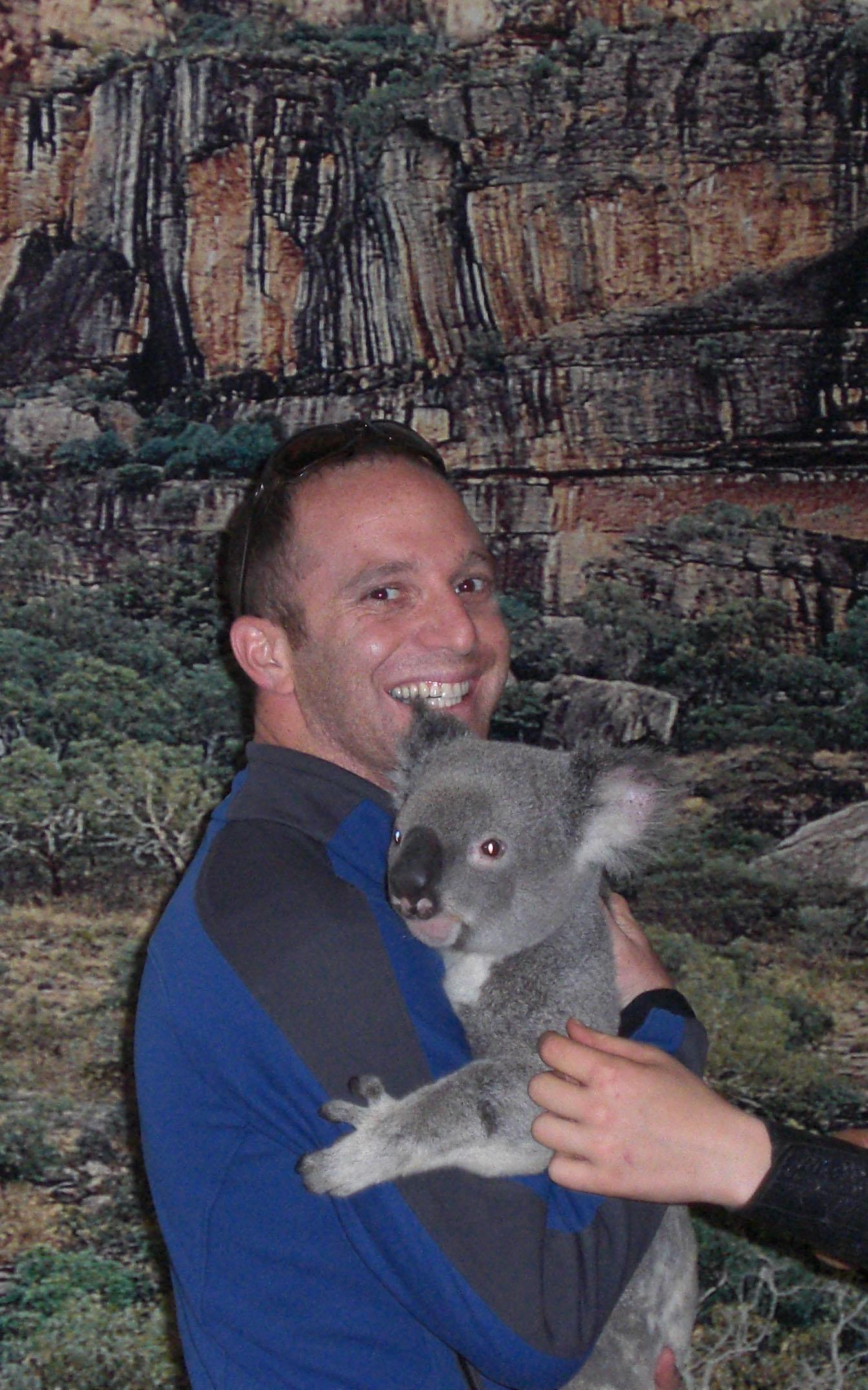 Symon & A Koala in Australia