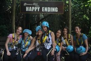 Thailand Community Service at Ziplining