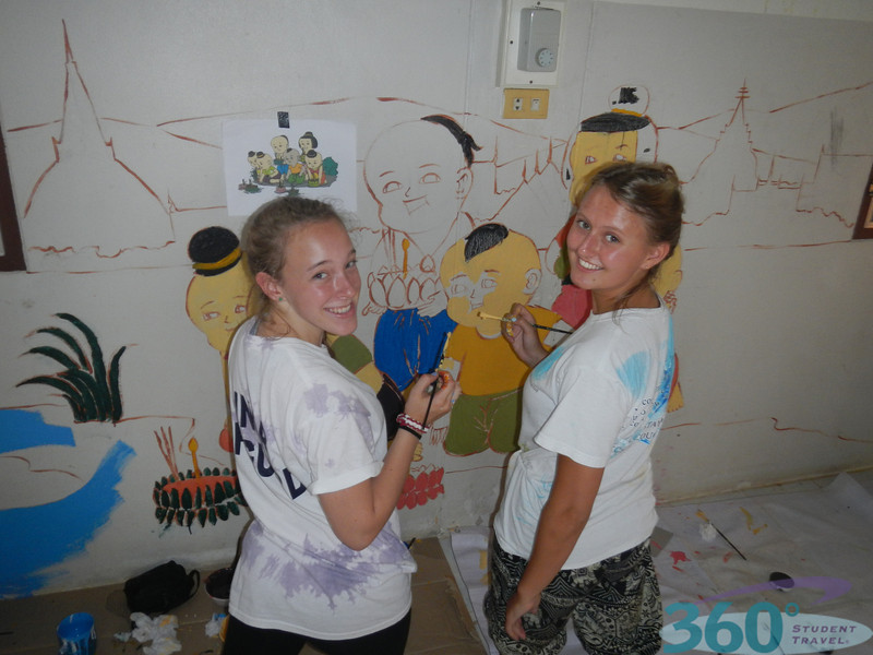 Painting at Chiang Rai's Special School