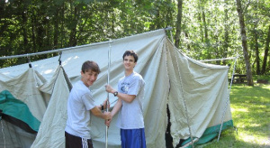 Erecting Tents