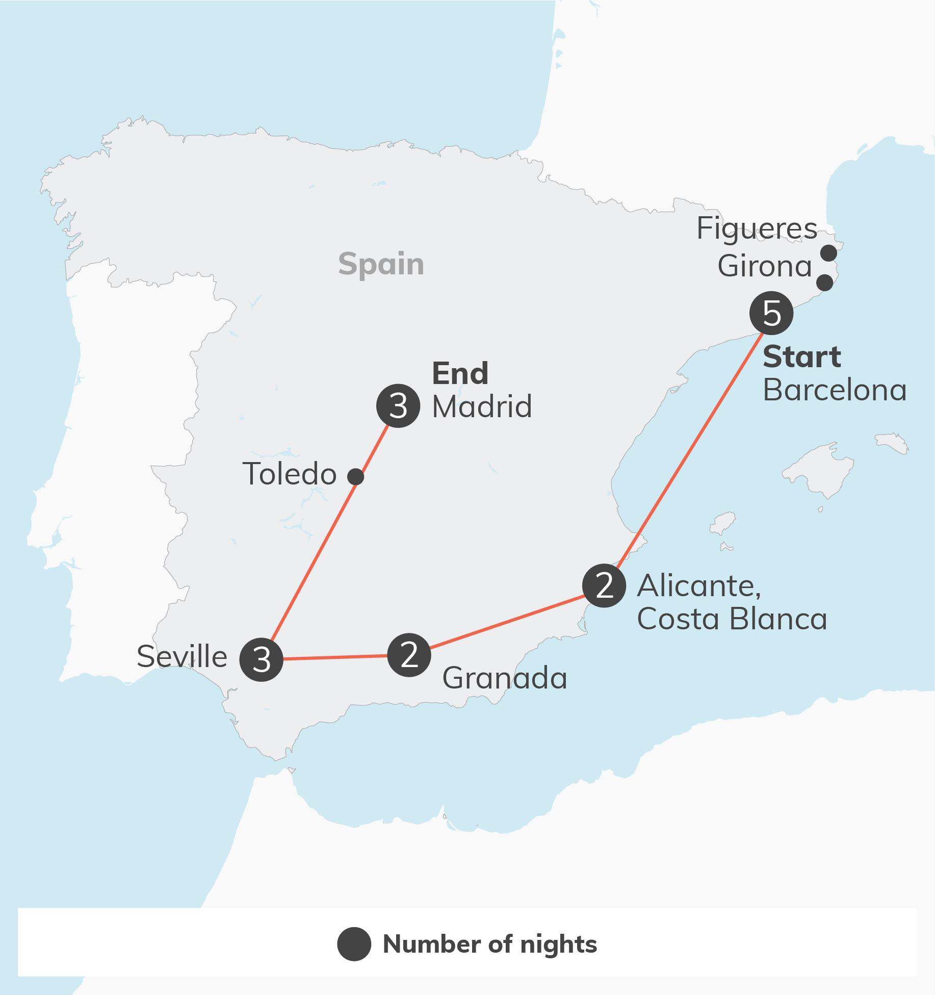 Spain - 17 days