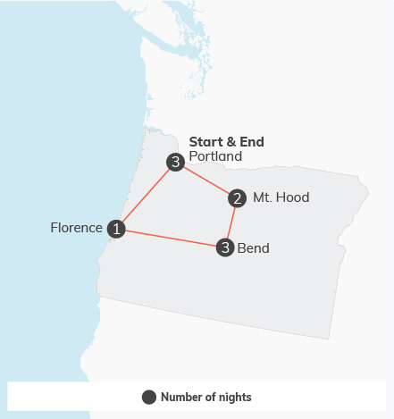 Pacific Northwest Adventure - 10 days