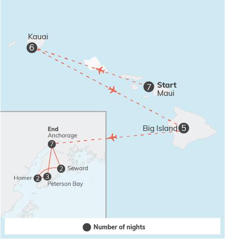 Hawaii Adventure & Alaska Community Service - 34 days