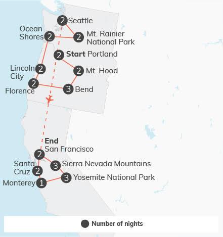 Pacific Northwest & California Adventure - 29 days