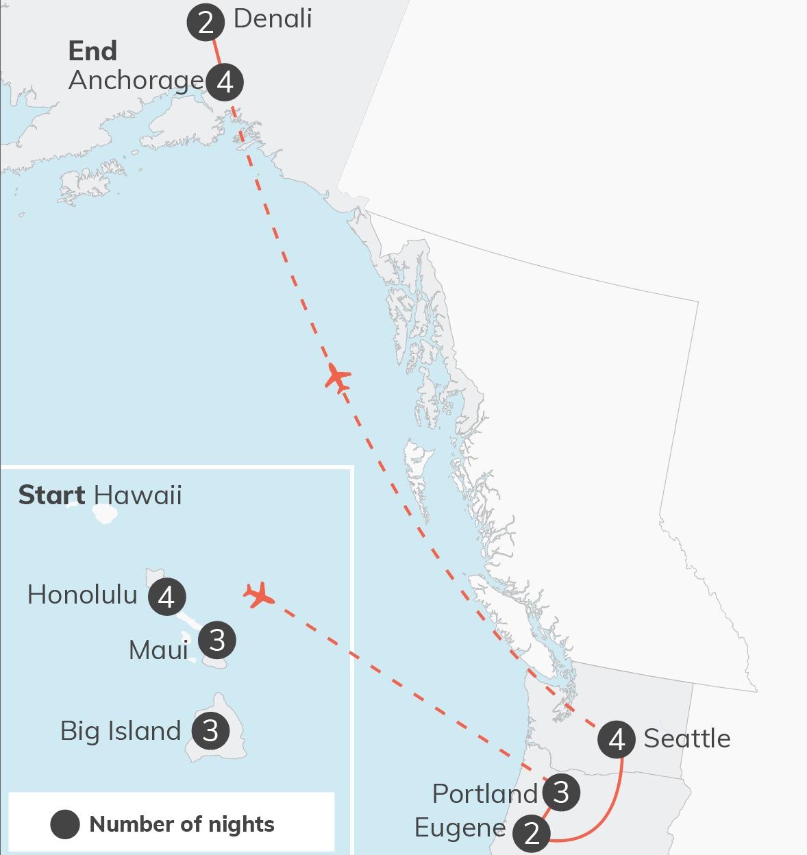 Hawaii & Alaska - 27 days USA 1